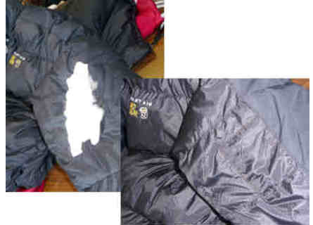 Jacket before and after