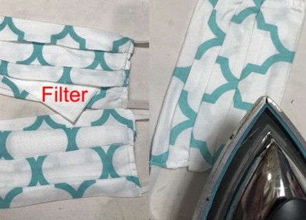 Face mask: left - filter, right - can be ironed